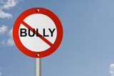 Stop Bully Sign poster
