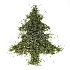 fir needle christmas tree