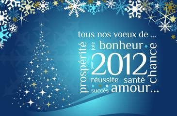 Carte de voeux bonne année 2012