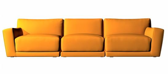 Orange three seater couch