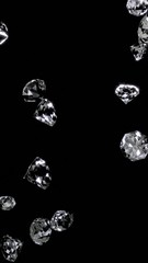 diamonds that fall in a vertical screen