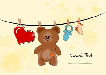 Glückwunschkarte mit Bär