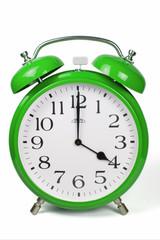 Wecker 4 Uhr / Four a clock  - grün / green