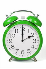 Wecker 2 Uhr / Two a clock  - grün / green