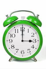 Wecker 3 Uhr / Three a clock  - grün / green