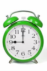 Wecker 9 Uhr / Nine a clock  - grün / green