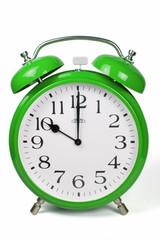 Wecker 10 Uhr / Ten a clock  - grün / green