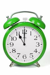 Wecker 11 Uhr / Eleven a clock  - grün / green
