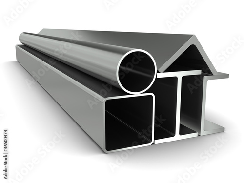 Metal pipe, girders, angles, channels and square tube