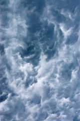 Overcast sky with dark storm clouds