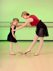 Ballet Teacher with Girl Dance Student