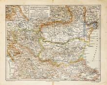 Vintage kaart van Oost-Europa