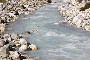 alpine river Soca in Slovenia