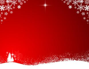 Red Snow Scene