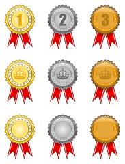Gold - Silber - Bronze Plaketten