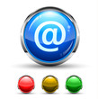 Email Cristal Glossy Button