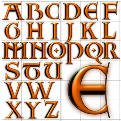 abc alphabet background two design