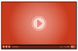 Detaily fotografie red video player for media