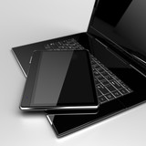 Digital Tablet with laptop concept
