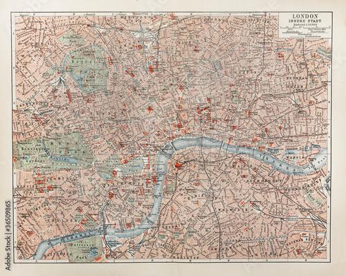 Archiwalne mapy Londynu