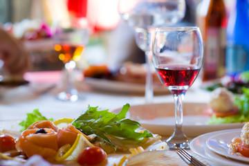 Salmon on a celebratory table