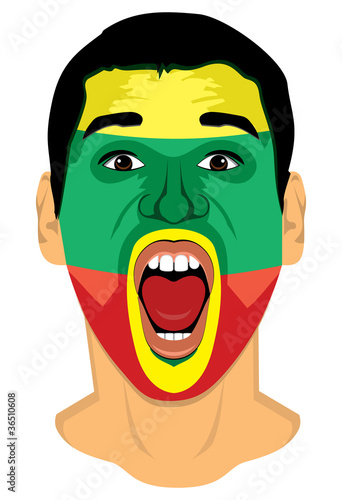 Lithuania fan face - series of similar images