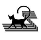 Gato abstracto poster