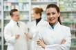 Leinwanddruck Bild - Pharmacy chemist woman in drugstore
