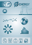 Infographic energy chart poster