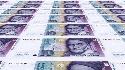 10 DM Banknoten endlos