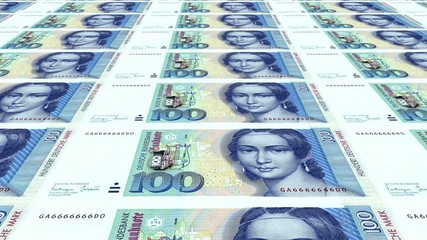 100 DM Banknoten endlos