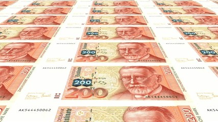 200 DM Banknoten endlos