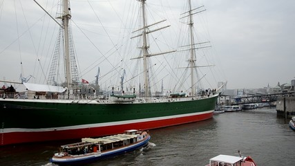 Barkasse Segelschiff