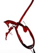 Quadro Red Wine Abstract Splashing On White Background