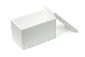 Open Styrofoam storage box