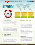 News related web page infographics template poster