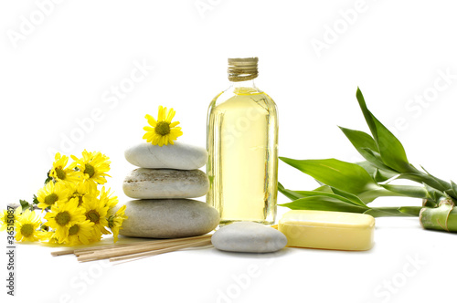 spa and aroma therapy setting