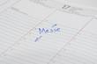 Messe Termin im Kalender notiert