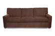 Brown micro fiber couch sofa