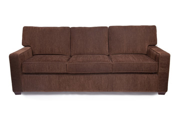 Brown micro fiber couch sofa