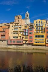 casas Onyar in old town of Girona, Spain