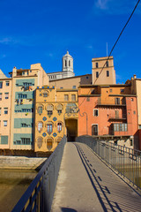 houses Onyar in old town of Girona, Spain