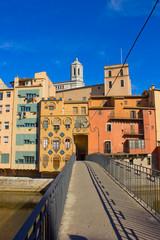 houses Onyar in old town of Girona, Spain