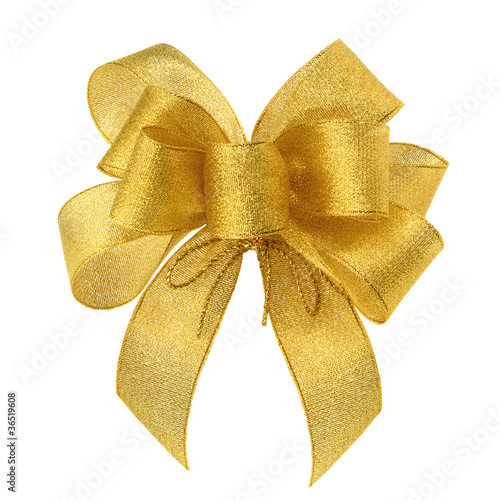 Pfiffig elegante goldene Schleife