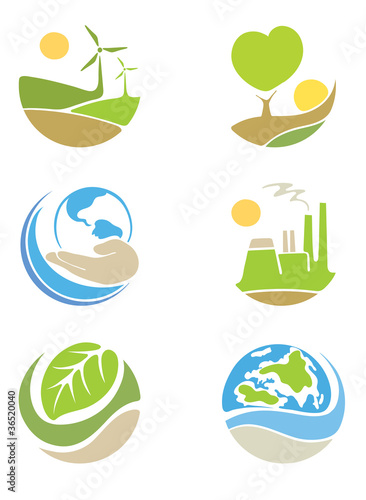 "The logos on the theme ""ecology"""