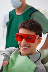 Patient at dentistal clinic