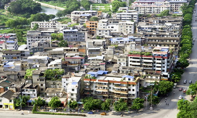 Chinese slum area district