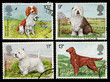 Britain Dog Postage Stamps