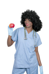 Female Doctor with an Apple