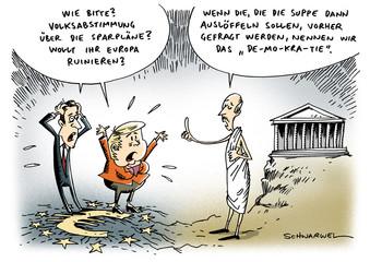 Papandreou Griechen Abstimmung Euro-Zone